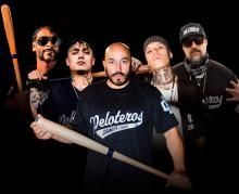 Lupillo Rivera, Aleman, Santa Fe Klan, Snoop Dogg and B Real. Courtesy of AP.
