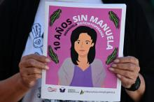 Poster '#Manuela Justice and Hope'. Getty Images.