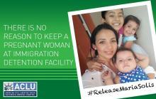 Maria Solís, una inmigrante mexicana, fue detenida el pasado 1 de agostopor agentes del ICE debido a que contaba con una orden de deportación por haber ingresado al país sin documentos n el 2007.(@ACLU)