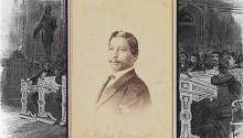 La Biblioteca del Congreso digitalizó hace tres años el único retrato que se conservade John Willis Menard. Photo: Composición de la Biblioteca del Congreso.