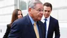 Democrat New Jersey Senator Bob Menendez, while attending the trial against him on corruption charges during the month of November 2017.