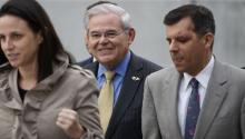 Sen. Robert Menendez leaves the Martin Luther King Jr. Building and U.S. Courthouse in Newark on Wednesday, November 8, 2017. (Photo: Michael Karas/Northjersey.com)