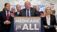 Independent Senator Bernie Sanders. Photo: Andrew Harrer/Bloomberg