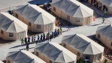 Children in federal custody. Photo: Reuters.