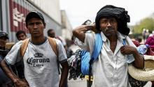Immigrants on the border. Photo: ASSOCIATED PRESS