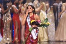 Miss Universe 2021, Andrea Meza, representing Mexico. Photo by Rodrigo Varela. Getty Images.