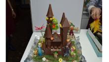 Una mona de chocolate de la Pastelería Benages, en Castellón, España. Foto: Facebook
