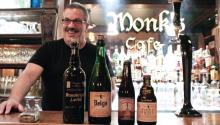 Tom Peters, co-owner of Monk's Cafe and self-proclaimed resident beer geek. AL DÍA News