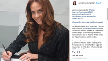 The journalist and former Miss Venezuela, Carmen María Montiel, while last inscribing her candidacy last December to be representative of the Republican Party in the 29th district of Texas, of Hispanic and Democrat majority. Source: Instagram.