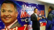 7th District candidate Manny Morales at his campaign headquarters in North Philly. Photo: Ana Gamboa/AL DÍA News