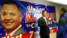 El candidato al Distrito Siete Manny Morales en las oficinas de su campaña en 'North Philly'. Foto: Ana Gamboa/AL DÍA News