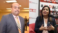 Maria Quiñones-Sánchez(derecha) y Angel Cruz (izquierda) se enfrentan en laseleccionesal Concejodel 7 Distritoel 21 de mayo.