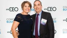El Presidente y CEO de Swain Techs, Manny Trujillo y su esposa Margarita, en la gala de premiación de SmartCEO's Philadelphia Future 50. Trujillo obtuvo el premio de Philadelphia Future 50 en el 2016 y 2017, el cual distingue a compañías en el área que representan el futuro de la economía de Filadelfia. (Foto cortesía)