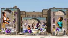 El mural será titulado The Sacred Now: Faith and Family in the 21st Century. El muralista mexicano César Viveros liderará el desarrollo del proyecto de 4.239 pies cuadrados en honor de la histórica visita del papa Francisco a Filadelfia.