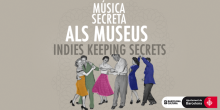 """Official poster of the cycle """"Secret Music in Museums"""" in Barcelona."""