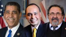 Adriano Espaillat, representantea la Cámara por Nueva York;Luis Guitérrez, representante a la Cámara por Ilinois;Raúl Grijalva, representantea la Cámara por Arizona. Archivo