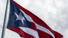 Puerto Rican flag. Photo: Xavier Garcia/Bloomberg