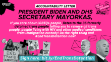 Accountability Letter. Photo courtsey of Familia Trans Queer Liberation Movement