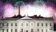 Fireworks at the White House. Photo: David J. Phillip/AP