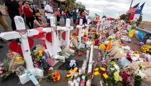 El Paso shooting memorial. Photo: Mark Ralston/Ap News