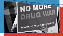 Cartel contra la guerra de las drogas. FOTOGRAFÍA: Zac Freeland/Vox