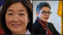 Juliet K. Choi (izquierda) y Clarissa Martínez-de-Castro (derecha) Fotografías: Charlie Leight/ASU Now, YWCA USA