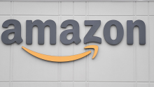 Amazon logo. Photo: Angela Weiss/Getty Images