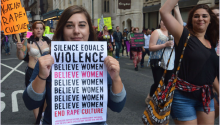 """Protester at the 2018 Philadelphia """"March to End Rape Culture."""" Photo: Eva Sheppard"""