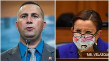 Reps. Darren Soto and Nydia Velazquez. Photos: Tom Williams/CQ-Roll Call, Inc via Getty Images, Kevin Dietsch-Pool/Getty Images