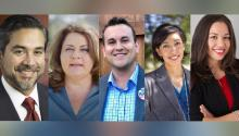 The elections will take place soon, on Saturday, May 1, 2021. Photo: Jana Lynne Sanchez campaign photo, Adam Bazaldua City Council photo, Ana Sandoval campaign photo, Robert Treviño campaign photo,  Tara Wilson Campaign photo