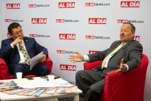 Judge Nelson Díaz (R) joined AL DÍA Publisher and CEO Hernán Guaracao (L) for a conversation on Aug. 20. Samantha Laub / AL DÍA News