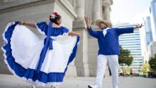 Tulululu Pasanda was one of the folk dances with which the Nicaraguan community celebrated its independence in Philadelphia. Photos: Edwin López Moya / AL DÍA News