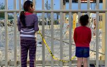 Unaccompanied minors in the U.S. border. Photo: Europa Press.