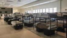 Photograph dated June 20, 2018, provided by the Department of Health and Human Services (HHS), which shows the collective dormitory of the Homestead Temporary Shelter for unaccompanied immigrant children in Florida. EFE / HHS
