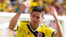 """James Rodríguez (cropped)"" by Copa2014.gov.br.  Licensed under CC BY 3.0 br via Wikimedia Commons."