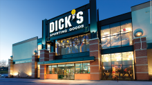 Image of the building of one of the largest retail stores in the country, Dick's Sporting Goods, which has decided to break ties with products that finance the National Rifle Association. Source: CNN Money.