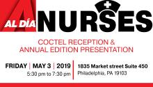 Promotion poster for the AL DÍA Nurses Reception & Annual Edition. Photo: Maybeth Peralta/AL DÍA News