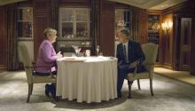 Merkel and Obama had dinner together in Berlin yesterday, after discussing the future of relationships with Russia. The menu: beer and sausages. EFE