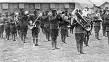 Members of the American 369thInfantry Regiment Band known as the 'Harlem Hellfighters' Photo: BBC
