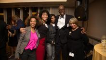Eve B. Lewis, Gail Nedd, La Valle Warren, Donald Notice and Dyana Williams. Photographed by Samantha Laub for AL DÍA News