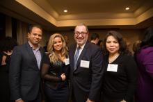 Jimmy Duran, Priscilla Jimenez, Luis Cortés, and Caroline Cruz. Photographed by Samantha Laub for AL DÍA News.
