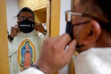 Priest Ezequiel Padilla, or Padre Cheke. Photo by Hilda Ríos, courtesy of Efe.