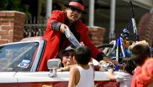 Richard Reyes, el Pancho Claus más famoso. Photo: Houston Chronicle.