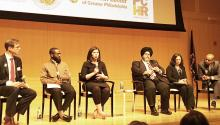 "Assistant District Attorney Jill Fertel speaks during a panel discussion at the ""Unifying our Communities, Responding to Hate"" conference. John N. McGuire / AL DÍA News"