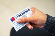 Vaccination campaign in Chile. Image by Agencia Uno.