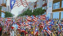 Un mural en el Paseo Boricua en Division Street de Chicago. Photo: Flickr.