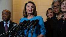 House Minority Leader Rep. Nancy Pelosi (D-CA) wins Democratic conference nomination for speaker. Alex Wong/Getty Images