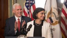 "Seema Verma, now administrator of the Centers for Medicare and Medicaid Services, guided her home state of Indiana to expand Medicaid eligibility under the governor at the time, Mike Pence, while emphasizing ""personal responsibility."" Credit Stephen Crowley / The New York Times"