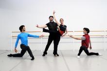 Mayara Pineiro, Ángel Corella, Etienne Diaz y Arian Molina son los responsables de que el Pennsylvania Ballet tenga más sangreque nunca. Foto: Samantha Madera/Al Día News.
