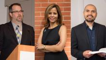 I am an American Immigrant Selection Committee. From the left to the right Peter Gonzales, Jennifer Rodríguez and Abel Rodríguez.